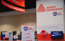 Messestand von Avery Dennison